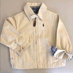 Polo Beige Zip Up Jacket Size 2T